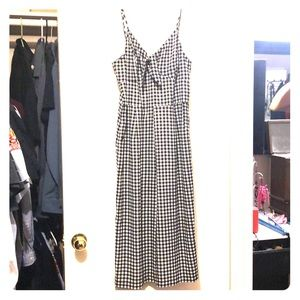 Xhilaration Dresses - Checkered Black and White pant dress- worn once
